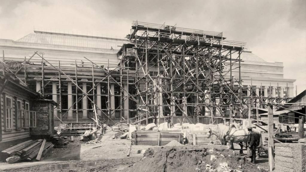 Этапы строительства музея
